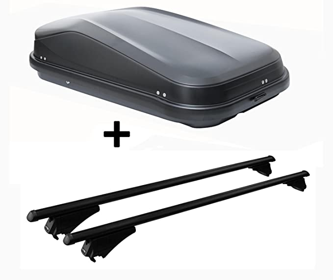 Alu-Relingtr/äger Dachgep/äcktr/äger f/ür aufliegende Reling im Set f/ür Hyundai ix35 ab 10 VDP Dachbox schwarz matt MAA320M g/ünstiger Auto Dachkoffer 320 Liter abschlie/ßbar