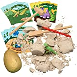 Prextex Dinosaur Excavation Kit with 12 Cute Dinosaur Coloring Books
