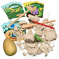 "Dinosaur Excavation Kit, Dig Through the Plaster dinosaur eggs and Discover a ""Glow Dinosaur"" ~ 12…"