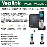 Yealink IP Phone W60P is a bundle of W60B base and W56H handset + (2-UNITS) W56H Handset
