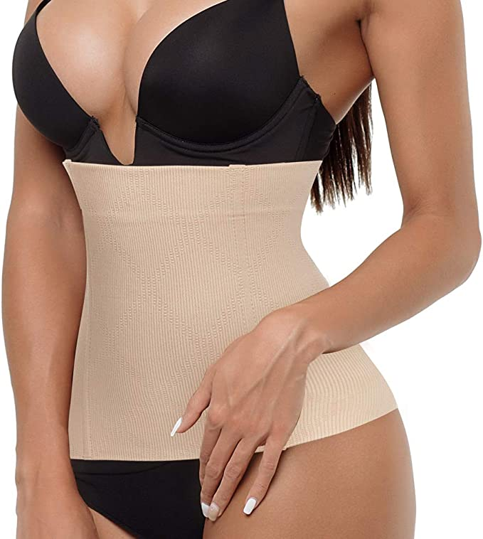 JITIFI Women's Postpartum Waist Trainer Belt Body Shaper Belly Wrap Compression Band