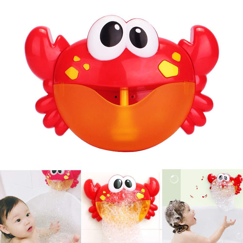 JUJUISM Badewannenspielzeug Bubble Krabbe Badewanne Blase Maschine Wasserspielzeug Blasen Automatisch-Sprü hen mit 12 Musik Lied fü r Kinder Geschenk