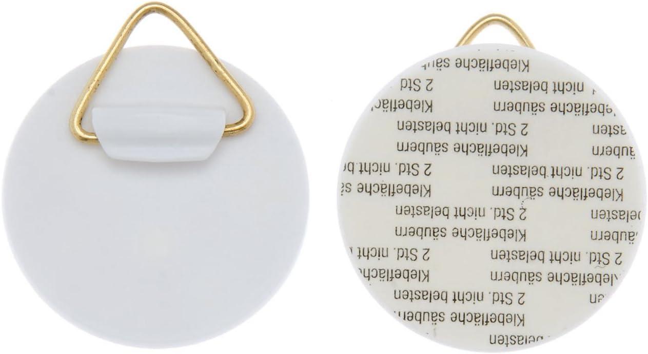 2 Bilderhaken Wandtellerhalter Aufh/änger selbstklebend 32 mm