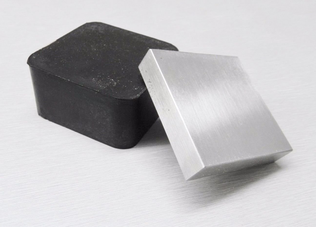2'' RUBBER& STEEL BLOCK BENCH ANVIL 2Pc COMBO JEWELRY STAMPING FORMING DAPPING (11 E)