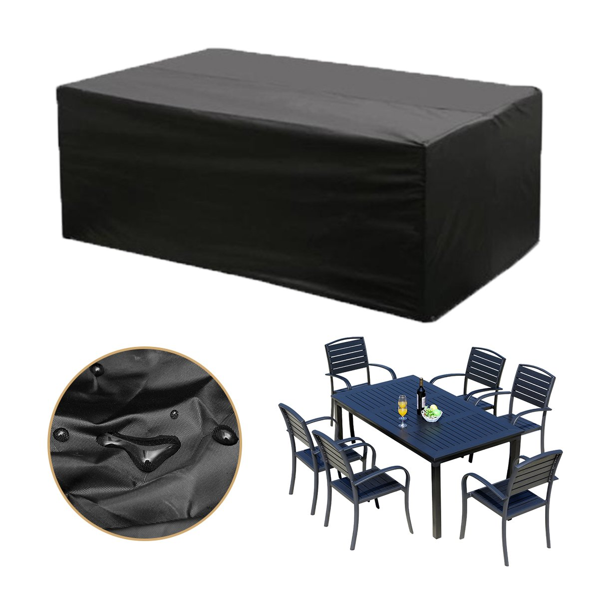 Strong-Willed Waterproof Outdoor Patio Garden Furniture Cover Rain Snow Garden Patio Home Furniture Cover Home Furniture Cover Sofa Protection Dust Covers All-purpose Covers