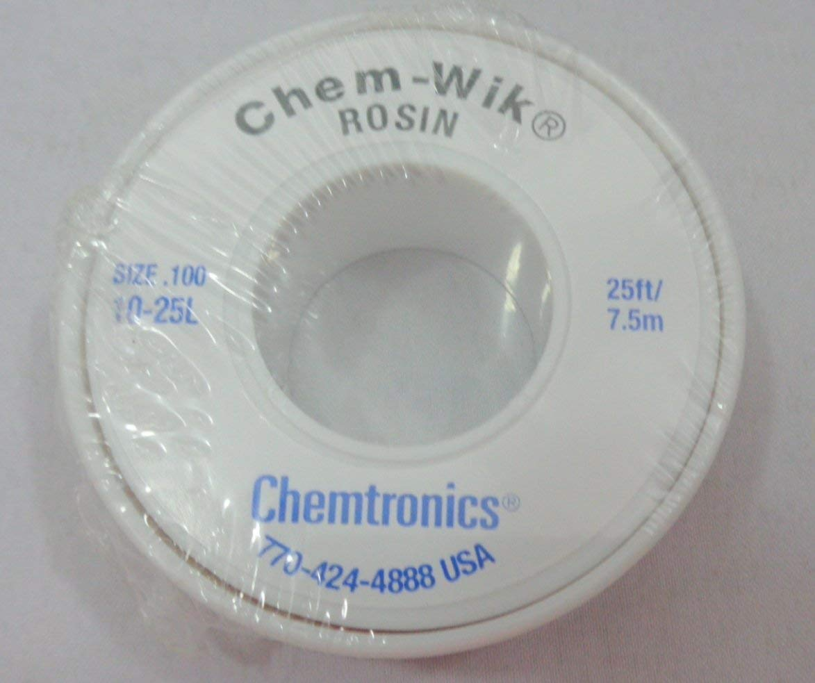 Chemtronics 10-25L Chem-Wik Rosin Desoldering Braid C10-25L