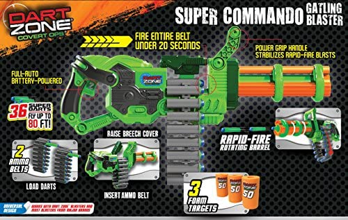 Dart Zone Super Commando Gatling Blaster: Amazon.co.uk: Toys