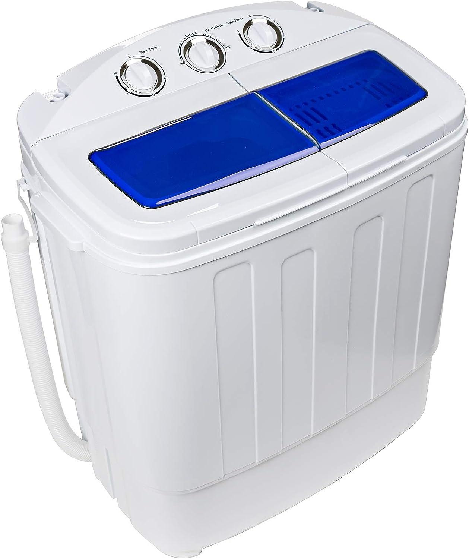 Dawoo 4.4 Kg Tragbare Mini-Waschmaschine Vollautomatische Doppelzylinder-Waschmaschine Mit Ablaufpumpe Und Zeitschaltuhr 37 Cm * 57 Cm * 66 Cm