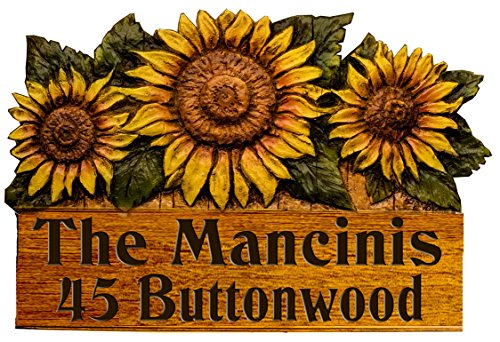 Sunflower Personalized Name and Address Sign