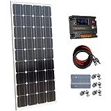 ecoworthy Monokristallines 100Watt 12V Solar Panels Kit + 20A Laderegler für netzferne 12Volt Akku System