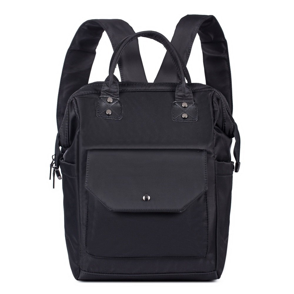 Diaper Bag Multi-Function Backpack Waterproof Oxford Mummy& Daddy Bag (Black)