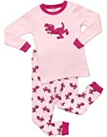 "Frogmouth Girls ""Dinosaur"" 2 Piece Pajama Set 100% Cotton (Size 2-7 Years)"