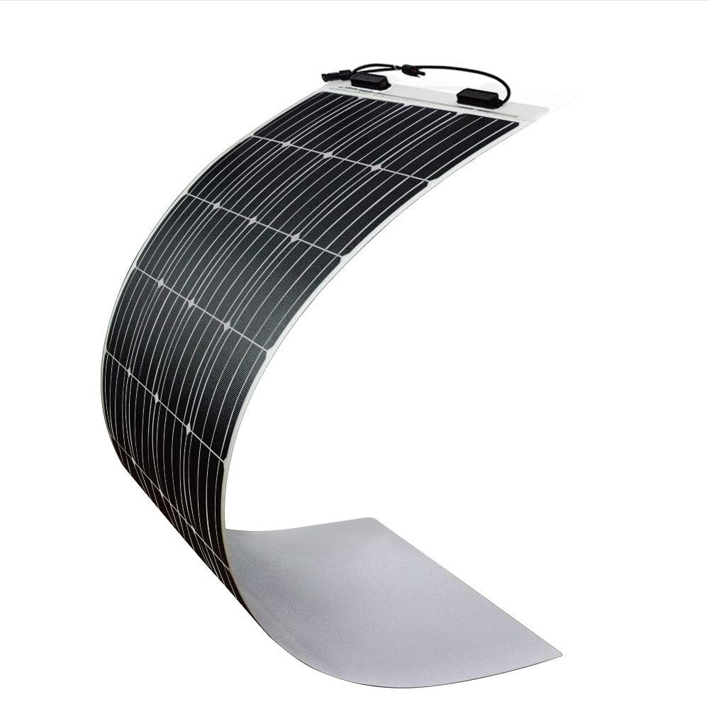 Renogy 160 Watt 12 Volt Extremely Flexible Monocrystalline Solar Panel - Ultra Lightweight, Ultra Thin, Up to 248 Degree Arc, for RV, Boats, Roofs, Uneven Surfaces by Renogy