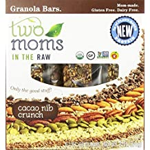 Two Moms in the Raw Organic Cacao Nib Crunch Granola Bar, 6 Ounce -- 6 per case.