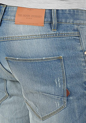 Moy Uomo Slim 9600 solid Pantaloni Denim Light Da Elasticizzato Destroyed Jeans Blue SwddqZHT
