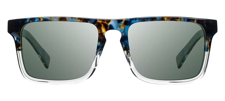 4ec42238a7 Shwood - Govy 2 Rectangle Acetate   Wood Sunglasses - Blue Nebula    Elm  Burl Polarized  Amazon.ca  Clothing   Accessories