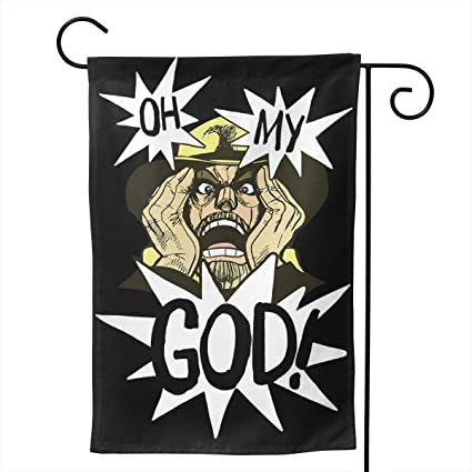 Amazon.com: ¡Oh Dios mío! - Bandera de arpillera de doble ...