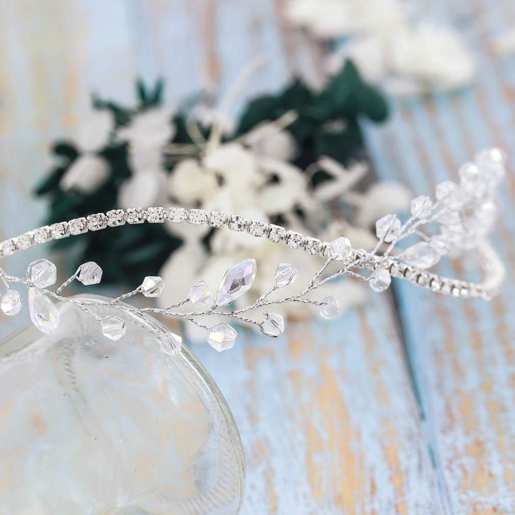 argento fs-148 Simsly Vines capelli sposa accessori per capelli con strass fasce per brides e damigelle