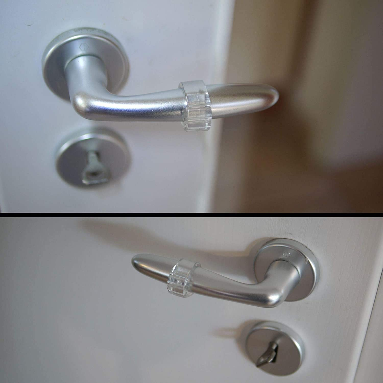 YIQI Fermaporta per Porta Trasparente 10 Pezzi Fermaporte per Maniglie in PVC per Proteggere Il Muro(O-Forma)