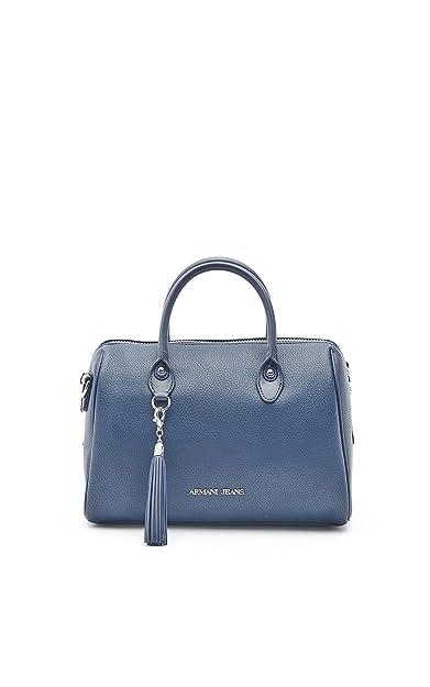 Armani Jeans sac à main femme tonneau nappina blu  Amazon.fr ... 19aa70003616