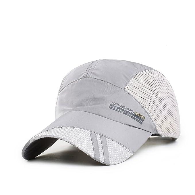 Sombrero/Gorras de verano de los hombres/Absorción respirables deportes al aire libre tapa/Visera/Sombrero para el sol/Gorra de béisbol moda-B ajustable: ...