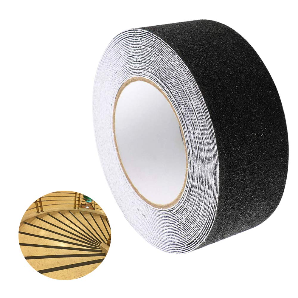 Safety Track Tape Residue Free Adhesive for Indoor /& Outdoor High Traction Strong Grip Abrasive Non-Slip Self-Adhesive Backed Tape FULARR 10M X 5CM Premium Black Anti-Slip Tape