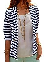 Naggoo Women's Striped Slim Business Blazer Suit Jacket Coat Outwear