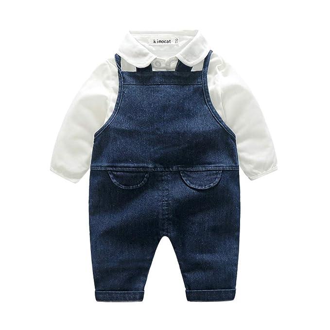 Conjuntos para Bebe Niños Niñas Manga Largas Otoño 2018 PAOLIAN Ropa de Camisetas y Tirantes de