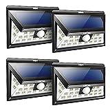 #8: Litom Solar Lights Outdoor, Wireless 24 LED Motion Sensor Solar Lights with Wide Lighting Area, Easy Install Waterproof Security Lights for Front Door, Back Yard, Driveway, Garage (4 Pack)