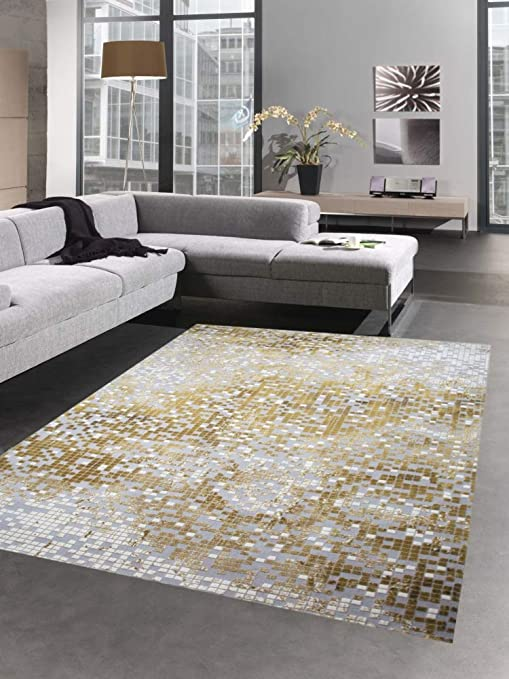 Carpetia Alfombra de salón Oriental clásica Mosaico con ...