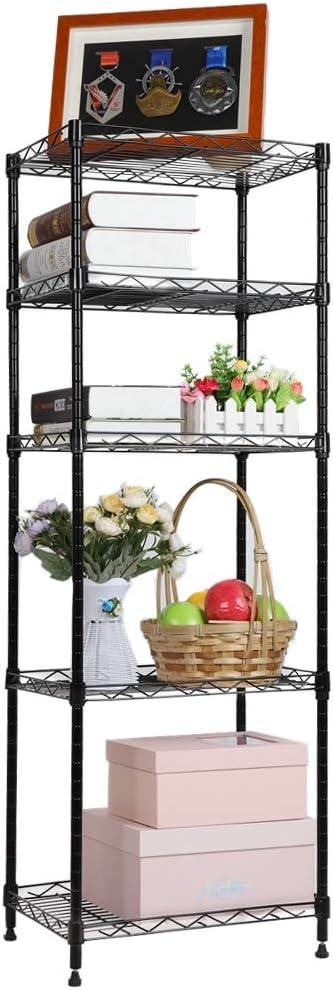 Estante De Metal Ajustable Con 5 Repisas Para Almacenar Accesorios Cocina Baño