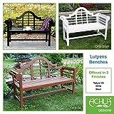 Achla Designs 4-Foot Lutyen Garden Bench