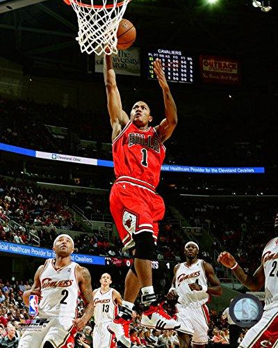 Derrick Rose Chicago Bulls NBA Action Photo (Size: 11