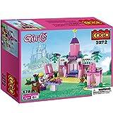 Babytintin Cogo City Building Blocks Girls The Wizarding World Construction Set 178Pcs (pink)