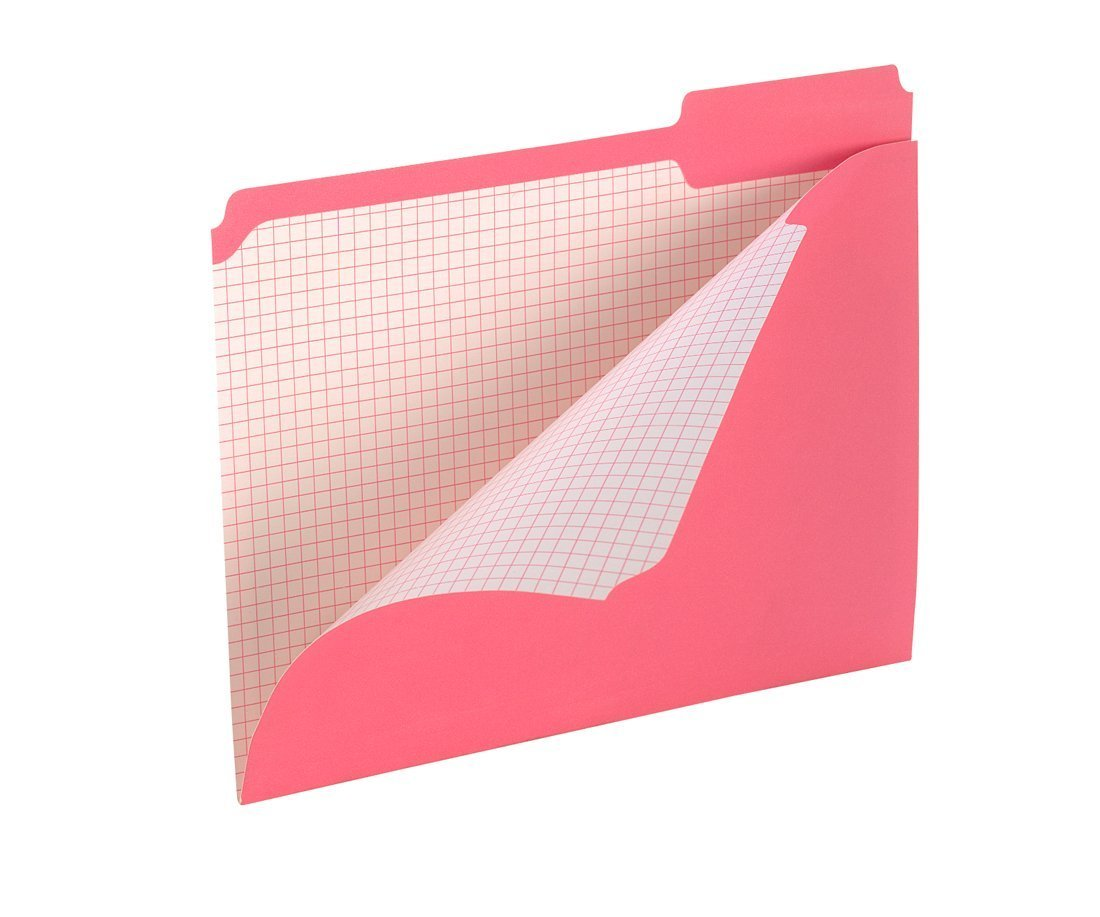 Pendaflex Color Reinforced Top File Folders, 3 Tab Positions, Letter Size, Pink, 100 Per Box (R152 1/3 PIN) 2-Pack
