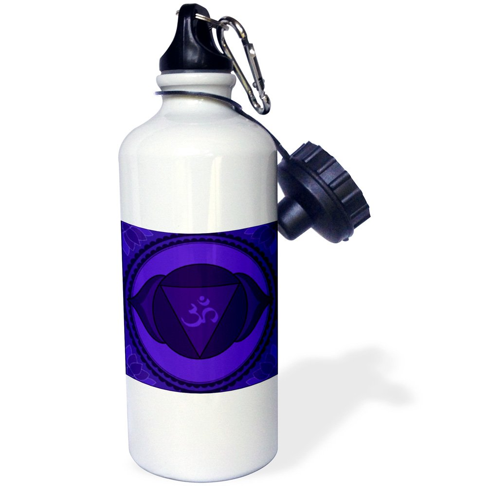 21oz 21 oz Multicolored 3dRose Sixth Chakra -Sports Water Bottle wb/_193596/_1