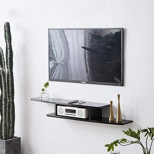 LBYMYB Soporte para TV de Madera Caja con Cable Enrutador Consola de Medios Control Remoto Reproductor de DVD Máquina de Juegos Estante Flotante Consola de Audio/Video Marco de Pared: Amazon.es: Hogar