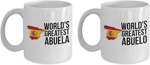 Abuelo and Abuela - Juego de tazas de café para abuelos con ...