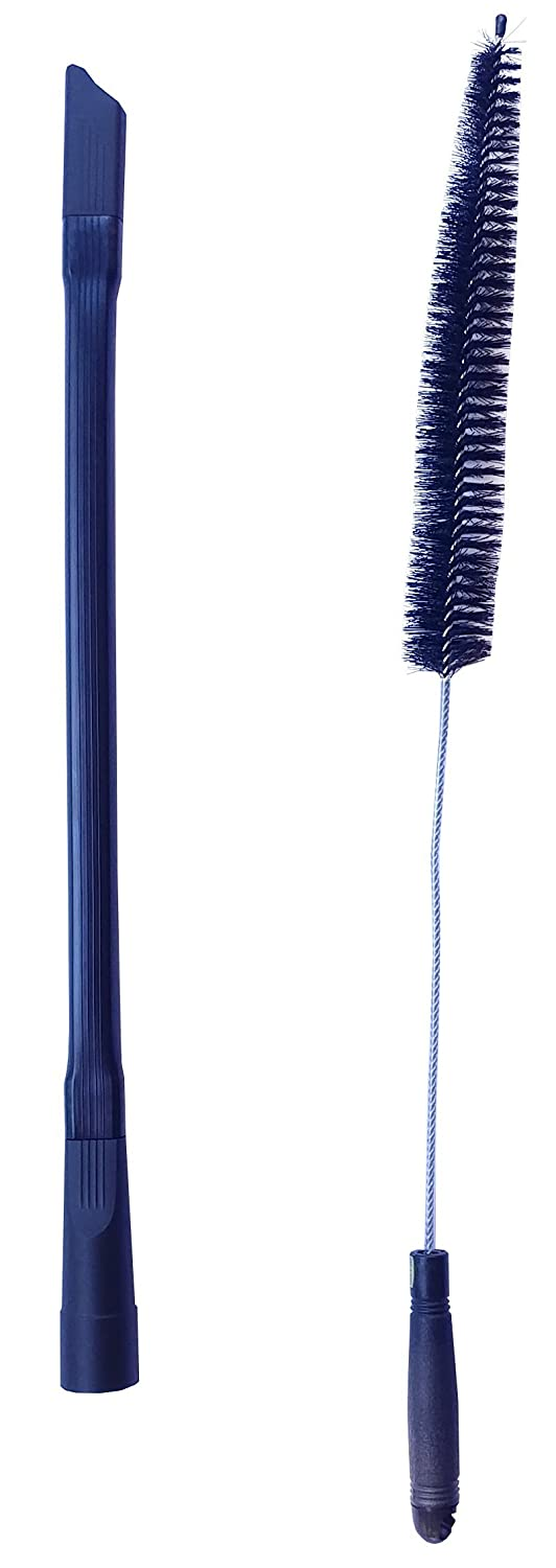 Dryer Cleaning Kit - Generic Vacuum Hose Attachment Flexible and 28 inch Flexible Dryer Vent Cleaning Brush and Refrigerator Coil Brush. Fits vacuum hoses 1 1/4 inches or less -by Mountain Trades