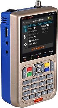 Docooler V8 Finder Meter Medidor de señal de TV DVB-S / S2 / S2X LCD 3,5 Pulgadas HD Medidor Digital Pantalla de Batería 3000mAh: Amazon.es: Electrónica