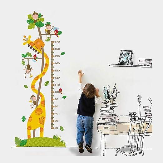 Righello di Misurazione del Bambino Grafico Multifunzionale per La Crescita DellAltezza Dei Bambini Albero degli animali Regalo Perfetto per I Bambini Adesivo Altezza Animal Pattern Design