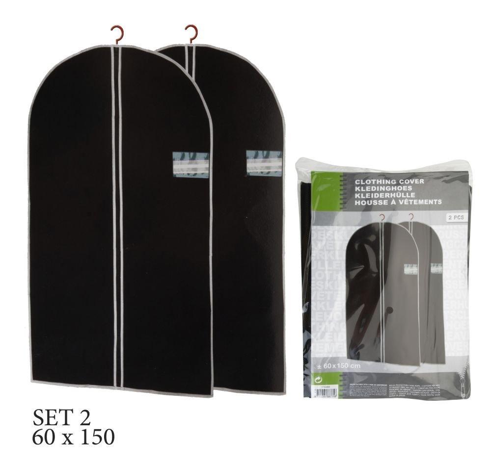 2 St/ück Sichtfenster 2St.//1Set Kleiders/äcke 60 x 150 cm Schwarz m