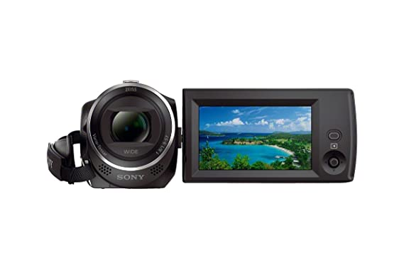 Sony HDRCX405 9.2MP HD Handycam Camcorder with Free Carrying Case (Black) Video Cameras at amazon
