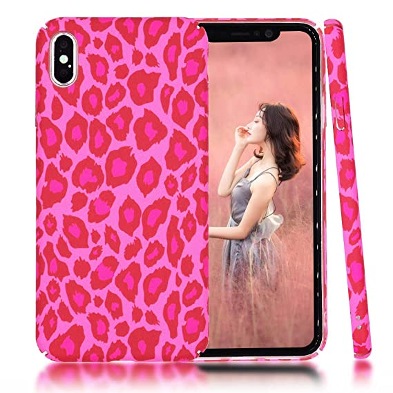 new style 65b1e c43df Clouds Compatible iPhone Xs Max Case Slim-Fit Shock Proof Protective Cool  Leopard Print Hard PC Case Cover for Apple iPhone Xs Max(6.5 inch) with a  ...