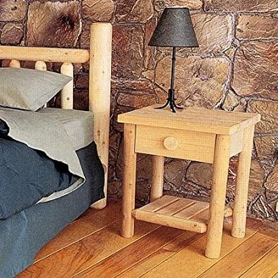 Rustic Natural Cedar Furniture Wheatfields Nightstand