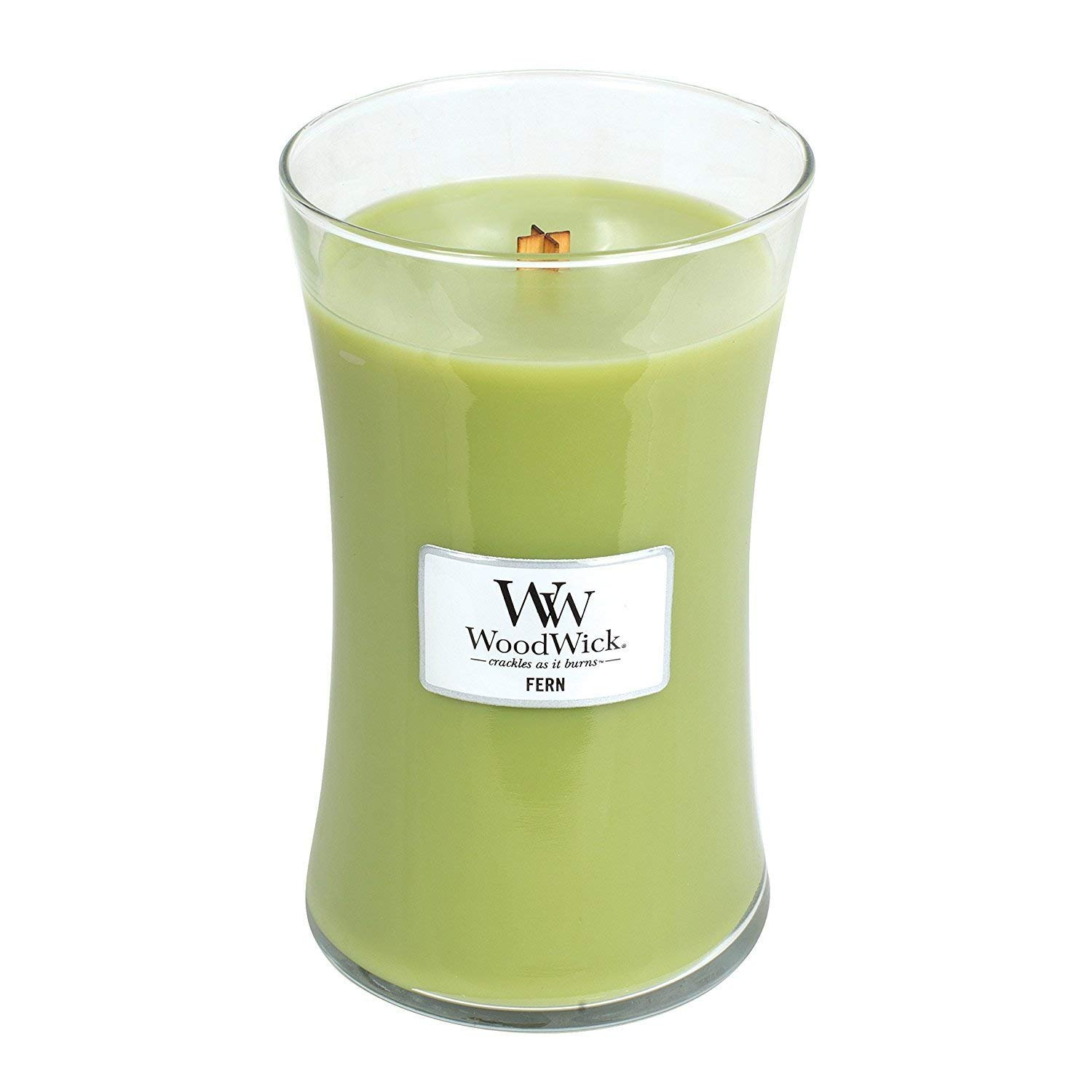 WoodWick Medium Hourglass Scented Candle, Fern 92189E