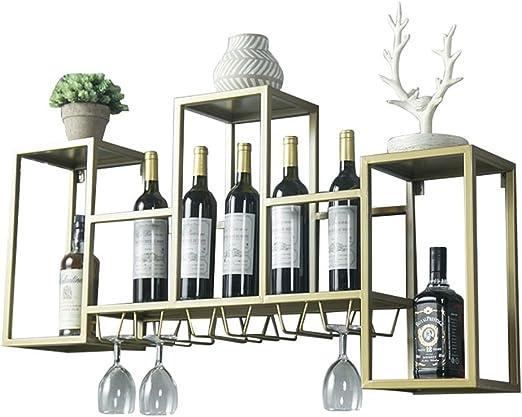 vino madera 10 estantes de metal para estanter/ía de vidrio soporte para armario de cocina armario pared