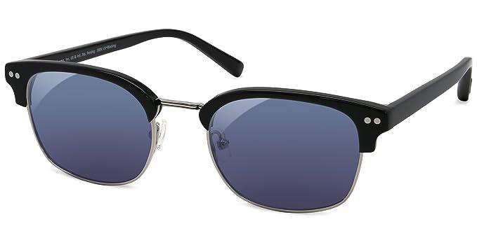 fb0f9a666989 Amazon.com  EnChroma Color Blind Glasses - Derby Black - Retro Browline  Acetate-Metal - Cx3 Sun for Deutan and Protan Color Blindness  Clothing
