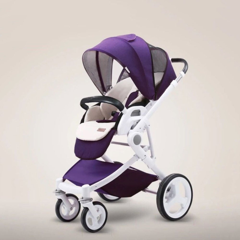 El Paisaje Alto del Carro De Bebé Puede Sentarse Carro Bidireccional ...