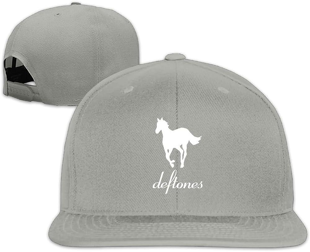Edongquwe Deftones Horses Log Flat Bill Snapback Adjustable Jogging Caps Black